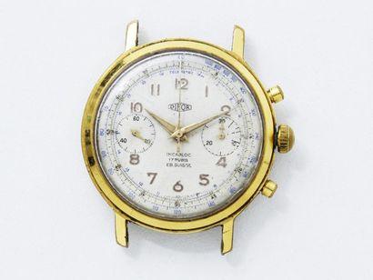 DIFOR Montre chronographe en métal plaqué...