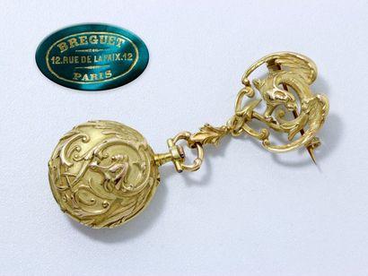 BREGUET Belle et rare montre de col en or...