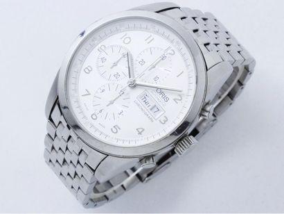 ORIS Montre chronographe en acier, cadran...