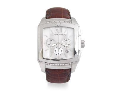 MAUBOUSSIN ''DELIT'' GM Montre chronographe...