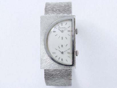 MOVADO Montre bracelet en or gris 750 millièmes,...