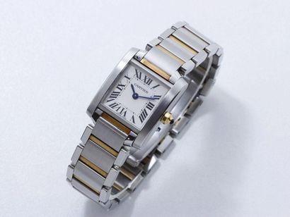 CARTIER ''TANK FRANCAISE'' Montre bracelet...