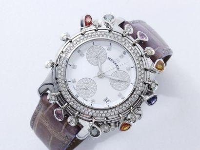 MEYERS ''LADY DIAMOND'' Montre chronographe...