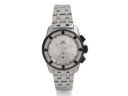 MEYERS Montre chronographe de dame en acier...