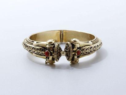 Bracelet rigide ouvrant en or 750 millièmes...