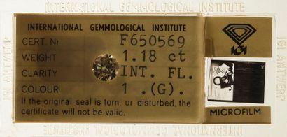 Brillant sous scellé IGI F650569 (1979) Poids...