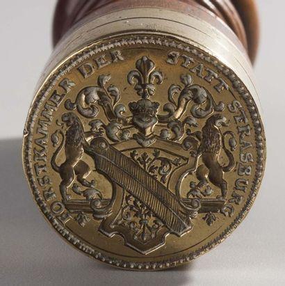 France , XVIIIe siècle  Sceau des états de Strasbourg  à manche balustre tourné...