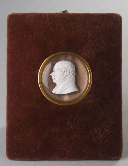 France, circa 1835  Profil de Louis-Antoine...