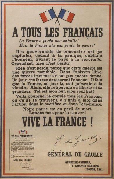 Affiche « A tous les Français…» dite « Appel...