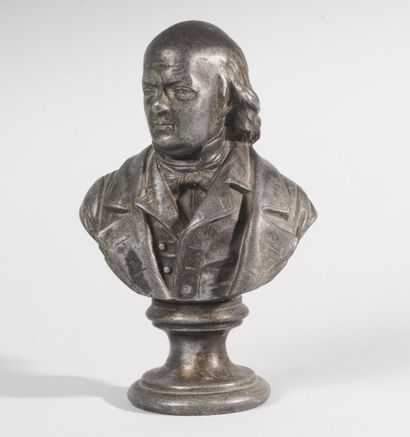 FRANCE, XIXe siècle Benjamin Franklin   figuré...