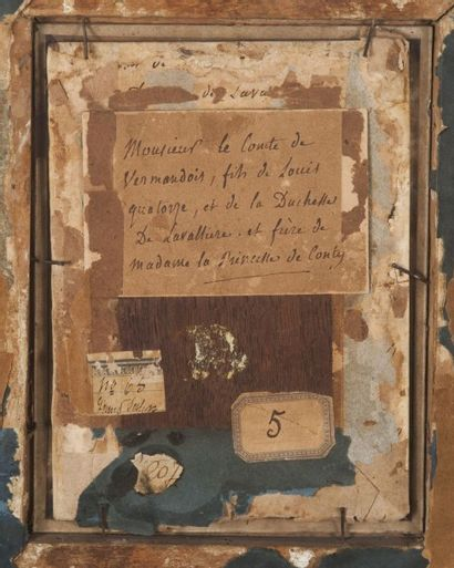 Jourdain, circa 1683  Louis de Bourbon comte de Vermandois  Rare portrait de ce...