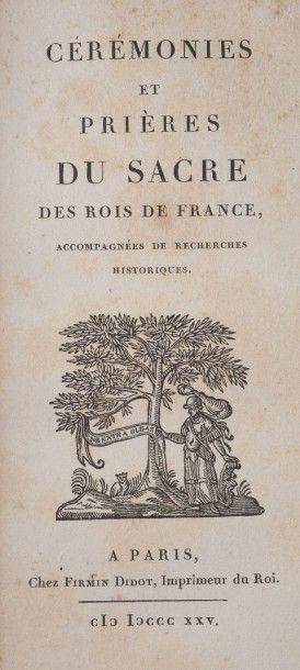 MENIN Nicolas. Cérémonies et prières du sacre des Rois de France,  accompagnées...