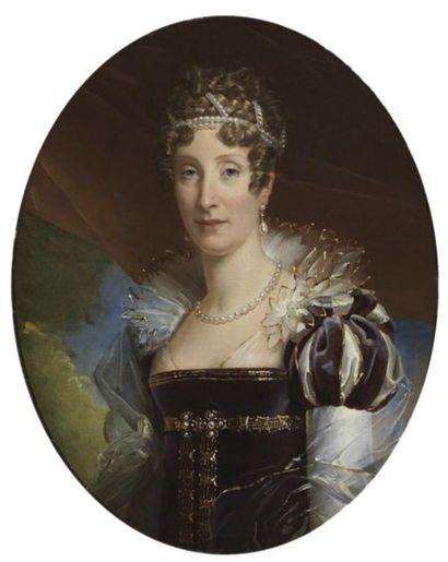 François Gérard (dit baron Gérard), circa 1817 Marie-Amélie de Bourbon duchesse...