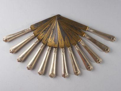 France, circa 1835  Rare suite de douze couteaux...