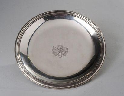 France, circa 1820  Rare soucoupe gravée...