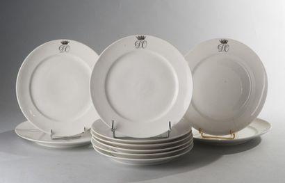 Porcelaine de Paris, circa 1820  Rare suite...