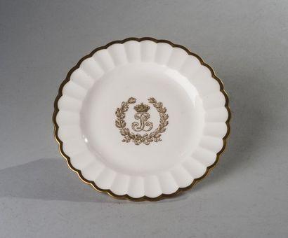 Sèvres, circa 1847  Une patelle à glace du...
