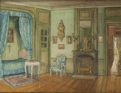 Korovin Olga, circa 1934  Vue intérieure...
