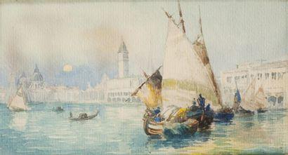 Ecole italienne, fin du XIXe siècle  Vue...