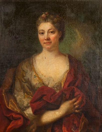 Attribué à Marianne LOIR  (1715 - 1769)  Portrait...