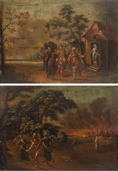 Ecole ALLEMANDE du XVIIIème siècle  Loth...