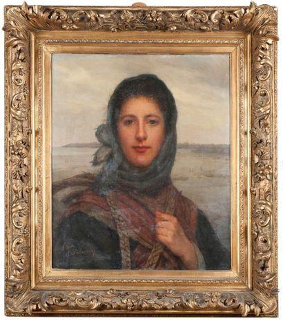 Eugénie-Marie SALANSON (Act. 1864-1892)  Portrait...