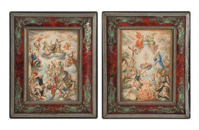 Ecole ESPAGNOLE vers 1700  L'Adoration de...