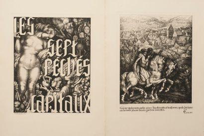 Les Sept péchés capitaux  Neuf gravures originales...