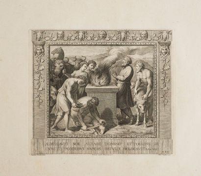 Recueil d'après RAPHAEL  Picturae peristyli Vaticani manus  Raphaelis Venit Romae...