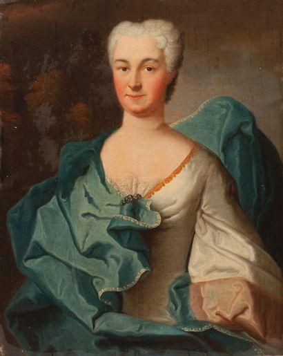 Ecole FRANCAISE vers 1740  Portrait de femme...