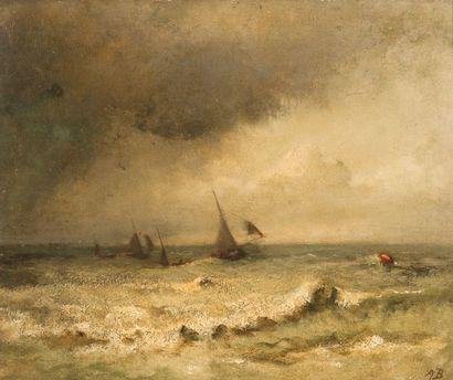Auguste BOULARD (XIXème siècle)  Voiliers...