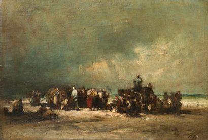 Auguste BOULARD (XIXème siècle)  Le ramassage...