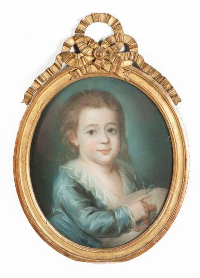 Ecole FRANCAISE vers 1770  Portrait d'un...