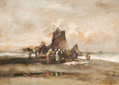 Auguste BOULARD (XIXème siècle)  Retour de...