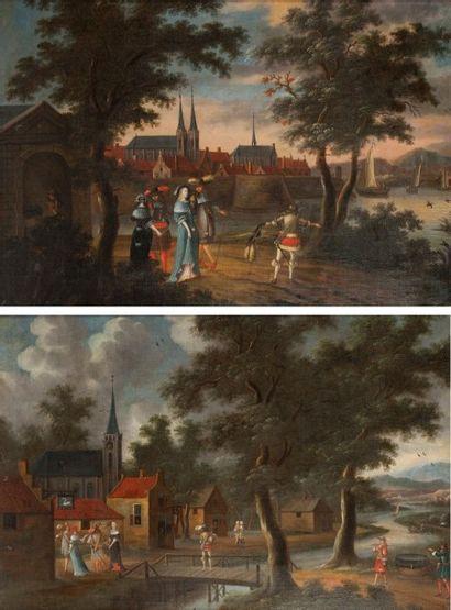 Ecole HOLLANDAISE du XVIIème siècle  L'arrivée...