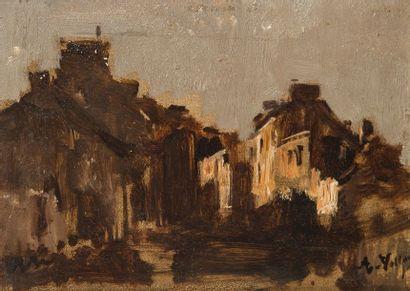 Antoine VOLLON (1833-1900)  Vue de village...