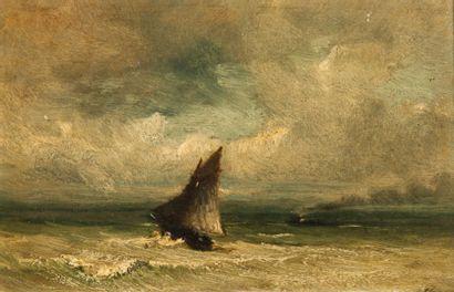 Auguste BOULARD (XIXème siècle)  Voilier...