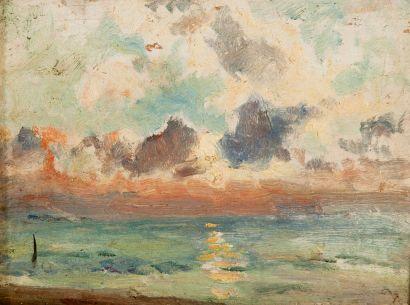 Attribué à Gustave LE SENECHAL  DE KERDREORET...