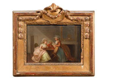 Ecole FRANCAISE de la fin du  XVIIIème siècle,...