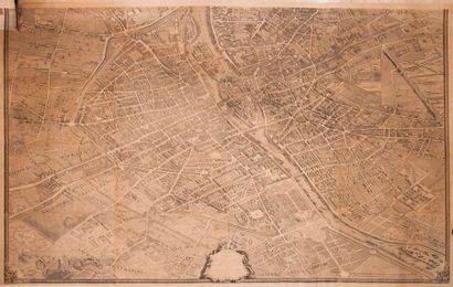 [Turgot]  Grand plan de Paris  Carte en seize...