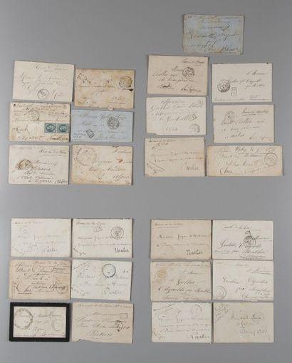 Lot de lettres Guerre de 1870 avec oblitérations...