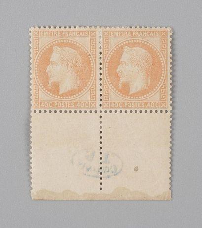 France, n°31 40c Orange Empire Lauré - Paire...