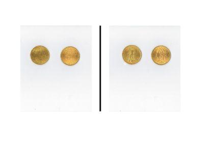 2 pièces or 20 $ 1897-1922