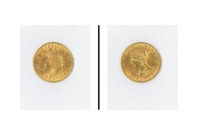 2 pièces or 10 $ 1894-1888