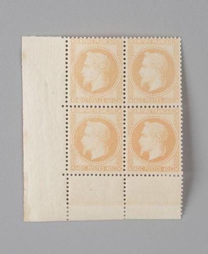 France, n°31 40c Orange Empire Lauré - Bloc...