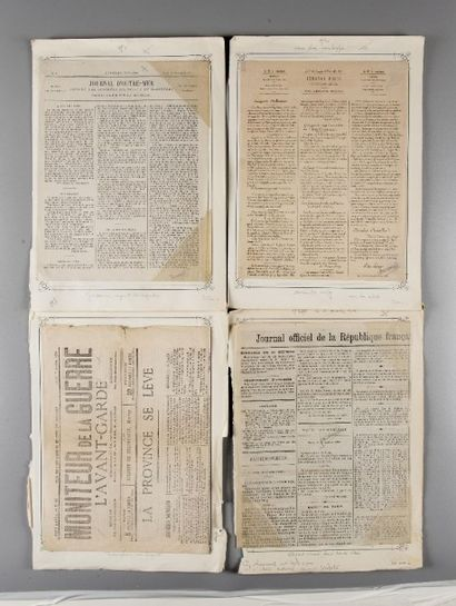 Ensemble de quatre journaux non voyagé. -...
