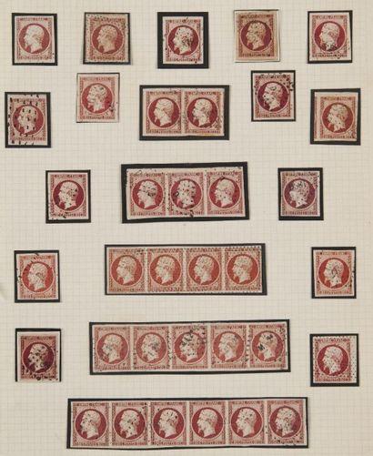 France, n° 17A 80c Carmin Empire - Lot de...