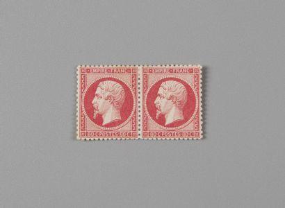 France, n° 24 80c Rose Empire dentelé - Paire...