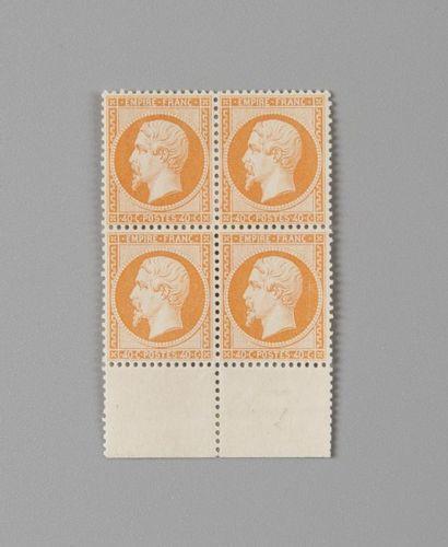 France, n°23b 40c Orange vif Empire dentelé...