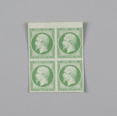 France, n° 12 5c Vert Empire - Bloc de quatre...